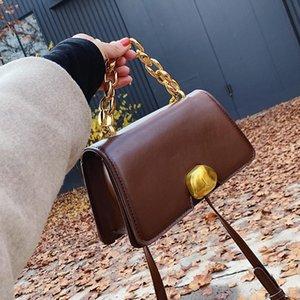 Designer-Square Chain Tote bag 2020 Fashion New High quality PU Leather Women's Designer Handbag Vintage Shoulder Messenger Bag Purses