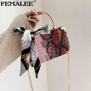 Серпантин узор женские квадратные сумки с шелковыми шарфами металлическая ручка плечо мессенджер сумочка змея печать кроссбиение сумка Bolsas q1208