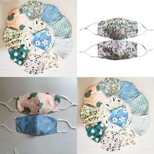 Bez Moda Kelebek Çiçek Baskı Yıkanabilir Tasarımcı Yüz Maskeleri Lüks Maske Toz Geçirmez Açık Kadınlar için Mg