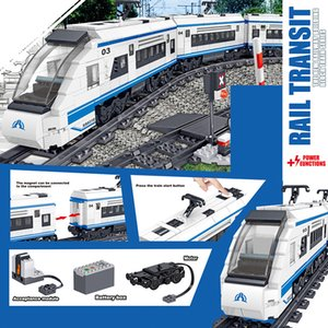 City Electric Train Remote Control Building Block Technic high-speed Rail Bricks Battery Motor Power Children Kids Toys Gifts Z1128