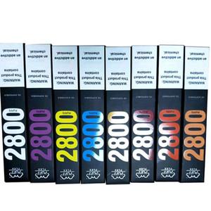 Neue Puff Flex Bars Einweg-Pods-Gerät Vape-Kits 2800 Puffs Vorgefüllt 10ml 850mAh Vape Batterie VS Flow XXL Plus max