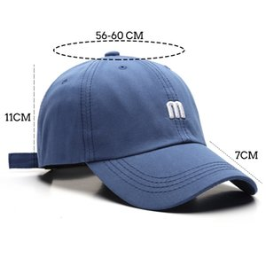 2020 Best Cotton Embroidery Letter M Baseball Cap for Men Women Snapback Bone Sun Casquette Female Hip Hop Dad Hat Winter Xmas Gift