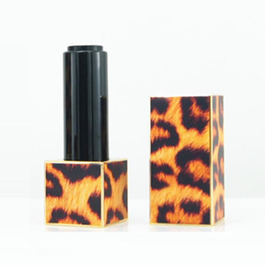 Leopard Printing Lipstick Tube Plastic Packing Box Containers Empty Lips tick Bottle Tube DIY Lip Balm Bottle