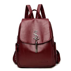 Bagpack cuir sac à dos design d'épaule femmes 2021 back pack sacs scolaires pour adolescentes mochila féminina Q1129