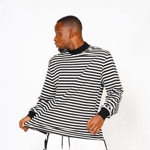 2020 hip hop crainte de dieu brouillard rayé t-shirt lâche skateboard cool tshirt brouillard hommes femmes coton manches longues décontractées t-shirt