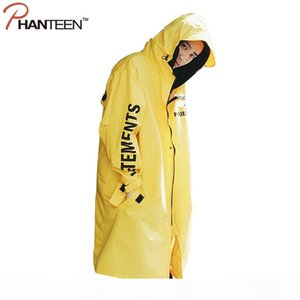 Wholesale- Vetements Polizei Man Jackets Hooded Rain Coat Water-proof Sun Protection Trench Casual Hi-Street Fashion Men Clothing