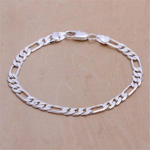 Silver Color Men Women Wedding Exquisite Noble Fashion 6mm 4mm Bracelets High Quality Fashion Jewelry Christmas Gifts H219 H bbyOVz