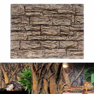 Quente 3d espuma rocha pedra aquário fundo placa decoração placa de espuma para o tanque de peixes de réptil 60x45cm ti99 c1115