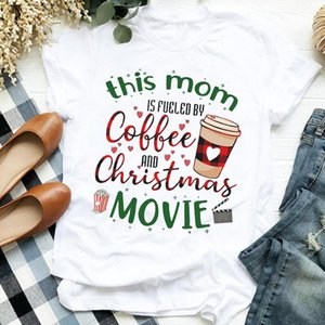 Women Plaid Love Coffee Movie New Year 90s Holiday Merry Christmas Clothes Ladies Graphic Print Tee Top Tshirt Female T shirt