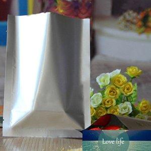 9 * 13 cm bolsillo plano 100pcs / lote plata bolsa de aluminio puro blanco, mylar Foil Sello de calor Bolsas de vacío a prueba de agua Saco de almacenamiento de alimentos