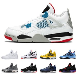what the 4s mens shoes bred Cool Grey PALE CITRON PURE MONEY OREO white cement ALTERNATE Wings 4 fashion men sports sneakers