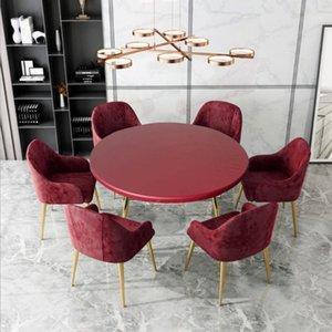 Couverture de table ajustée Tissu Élastique Élastique Rond Soft Nappe Soft à 120cm Dia1