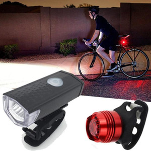 USB Rechargeable LED Bike Bicycle Cycling Front Light Headlihgt Lamp Torch Bike Light Bicycle Headlight & Taillight