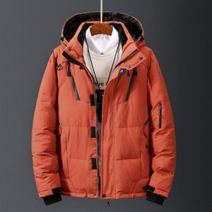 DROPSHIPPING Down Jacket Male Winter Parkas Men White Duck Down Jacket Hooded Outdoor Thick Warm Padded Snow Coat Size M-4XL J1205