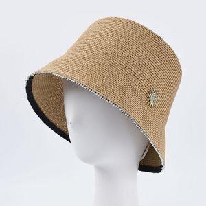 Fibonacci 2020 Neue Frauen Eimer Hut Caps Stroh Panama Frühling Sommer Outdoor Mountainerer Hut F1230