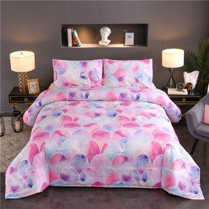 Rosa Bettwäsche Set Meerjungfrau Waage Mädchen Junge Schlafzimmer 2/3 stücke Home Textile Dekorative Bettdecke und Kissenbezug volle Größe Single Twin Queen