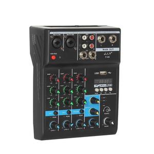 مصغرة الصوت خلاط المحمولة بلوتوث خلط خلط 4 قناة الصوت خلاط مع تردد تردد للمنزل كاريوكي USB المرحلة الكاريوكي