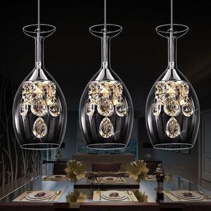 Modern Dining room led chandelier European crystal lights chandeliers bedroom living room clothing store nordic glass pendant lamp