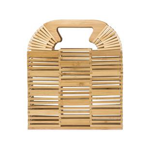 Bolso de bambú de Bambú de Bambú de Bambú Realer Bolso de la playa para las damas Caja de bambú y bolsa de ratán de lujo de alta calidad para el verano 2020