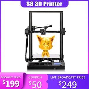 FDM Impressora 3D Plus Size Grande Trabalhos Automático Impressora 3D DIY DIY Delicate Artwork Suporte TF Cartão USB Interface Kit Drucker1