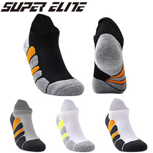 Men Socks Cotton Breathable Cushioning Cushioned Active Trainer Mens Sports Ankle Socks Professional Outdoor Running Sock
