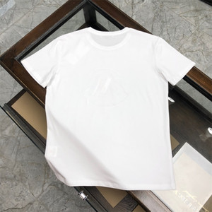2020.4.6 New spring fashion high cotton men casual tshirt short sleeve print tshirt asian size m-3xl black white black and blue RRTH