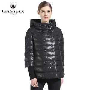 Gasman Winter Black Women Cappotto Down Fashion Brand Women Short Down Giacca Cappotto Parka Girls Antivento Polone Polvella 166111 201029
