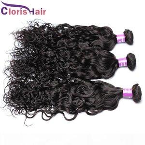 Vague de l'eau Humain Hair Weave 3PC RAW NUMÉROPROSSED INDIEN NUMÉRAL EXTENDUES DE CHEVEUX SUR LES CHIPHES NAUTAL BULL BUNDLES DHGATE VENDORS