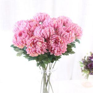 واحد جذع الأناناس أقحوان الزفاف المنزل تقليد الزهور الاصطناعي زهرة أقحوان الدعائم 1