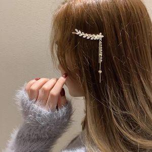 Kore püskül yaprakları tam matkap saç tokası bir kelime patlama hairpin süsler ördek ağız bahar klip kadın tarafı