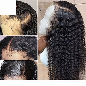 Deep Wave Human Lace Wigs Frontal Lacefront Glueless Brazilian Virgin Hair Pre Plucked Brazilian Deep Curly Full Lace Human Hair Wigs