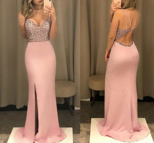 Lady Long Dress Maxi Evening Dress Ever Pretty V Neck Fish Sequined Formal Dresses Women Elegant Party Gowns Pink Black 2021