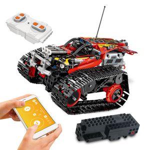 391 шт. Приложение дистанционное управление автомобиль модель кирпичи технический RC отслеживаемый трюк гонщик модель здания монтажные блоки игрушки для детей подарок LJ200928