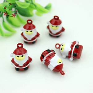 Set of 15pcs Size S Santa Claus Copper Bell Charm Vintage Jingle Bell Doll Bell With Melodious Voice Dog Supplies Y1125