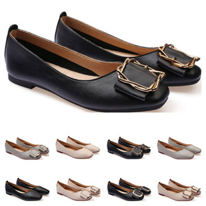 ladies flat shoe lager size 33-43 womens girl leather Nude black grey New arrivel Working wedding Party Dress shoes twenty one