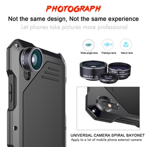 아이폰 x xs에 적합한 새로운 디자인 사례 최대 견고한 휴대 전화 쉘 애플 아이폰 x 3 렌즈와 애플 xr fisheye 광각 매크로