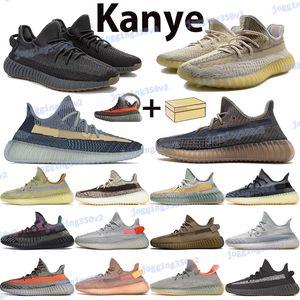 Kül Mavi Taş Inci Kanye Yansıtıcı Erkekler Koşu Ayakkabıları Zyon Toprak Külot Solmaya Karbon Siyah Beyaz Kırmızı Yekeil Beluga Kadın Eğitmenler Sneakers