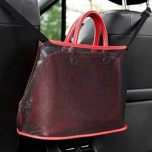 Araba Sandalye Katlanabilir Çanta Örgü Bez Net Cepler Retiküler Kılıfı Kırmızı Siyahlar Dikdörtgen Çok Fonksiyonlu Moda 7 5KN L2
