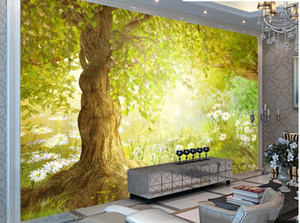 Fantasy window mural wallpaper fairy tale forest wallpapers TV background wall 3d stereoscopic wallpaper
