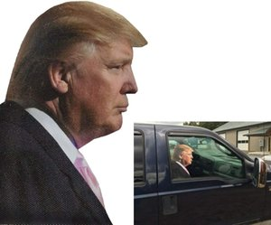 Toogod Trump 2020 Car Sticker Car Window Cling Rider Window Decal (for Passenger Right Side)
