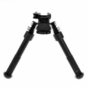 6 - 9 pollici Rotatibile 360 Atlas BiPod Altezza regolabile Altezza Pivot Degree rotanti di alta qualità CNC Anodizing Black finito