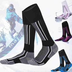 1 Pairs Winter Ski Snow Thermal Sports Long Socks Kids Women Man Ski Snow Walking Hiking Sports Towel Socks