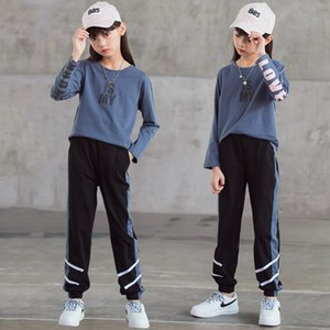 New Spring Baby Casual Tracksuit Children Boy Girl Cotton Tee Pants 2Pcs Sets Kids Leisure Sport Suit Teens Clothing CL489 Y1117