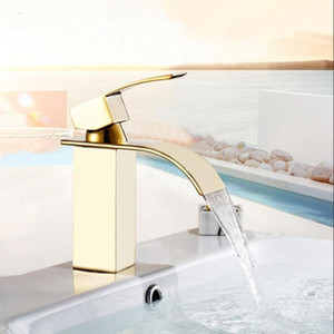 Vidric New Arrivals Bathroom hot and cold Square Brass Basin Faucet Waterfall Sink Single Handle water tap