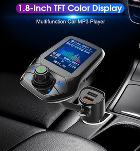 Bluetooth Handsfree Calling Car Kit Dual USB 3.0 Fast Charger Support TF Card Auto Car MP3 Music Player