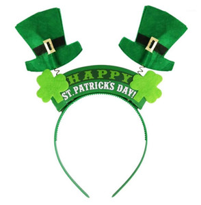Irish St Patricks Day Headband Green Leprechaun hairband Shamrock Buckle Fancy Dress Carnival Christmas party favor gift1