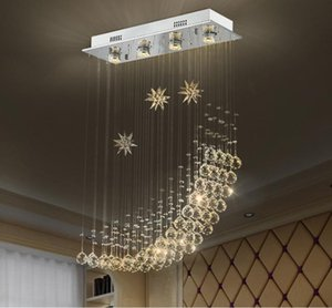 Creative dining room restaurant crystal chandelier simple modern living room crystal ceiling lamp LED bar table lighting