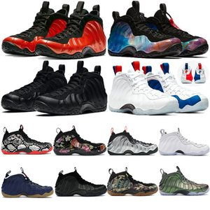 Schiuma vandalizzata Sequoia antracite One Penny HardAway Mens Scarpe da basket Bianco Nero University Red Denim Halloween Uomini Sneakers sportivi
