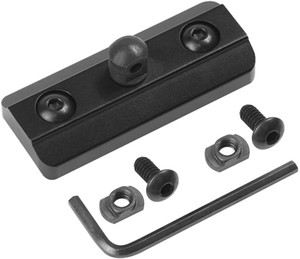 MLOK Bipod Adapter Mount Fits on Mlok System - Mlok Sling Stud - Includes 4 T-Nuts & 4 Screws and 1 Wrench (Mlok bipod Adapter)