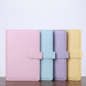 PU Leather Notebook Cover Clip A5 A6 Notebook Loose Leaf Binder Personal Planner Diary Loose Cover for Filler Paper